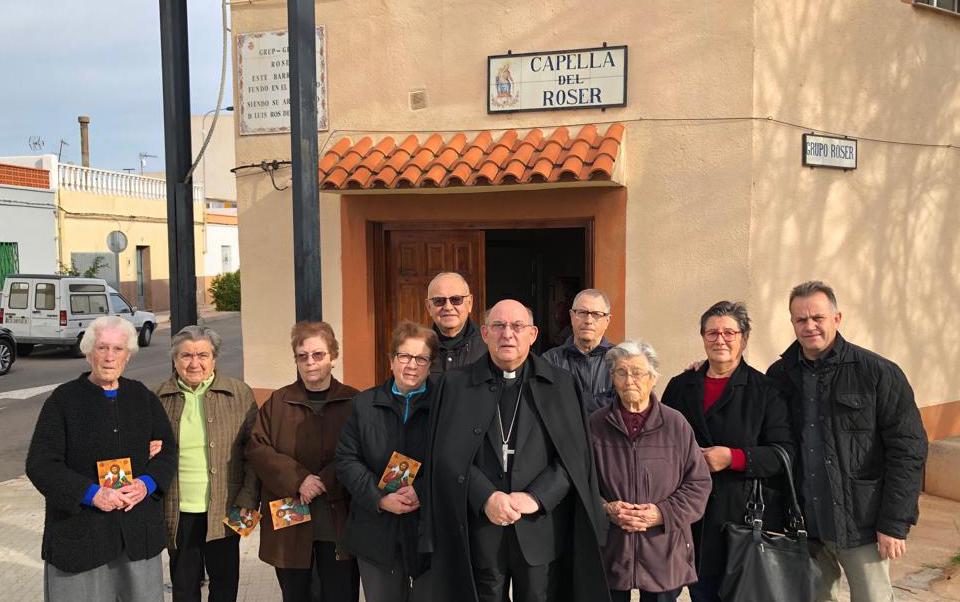 Visita en la capilla del Rosario